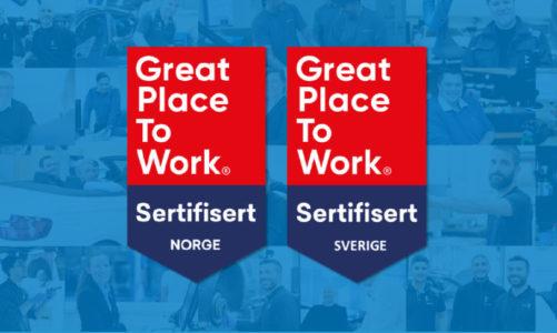 Hedin Automotive er igjen sertifisert som en Great Place to Work-bedrift