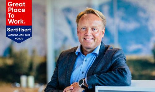 Experis sertifisert som en av Norges beste arbeidsplasser