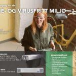 Bakterie- og virusfritt miljø med UV-C teknologi